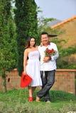 逗人喜爱的亚洲夫妇 库存照片