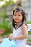 逗人喜爱的亚洲女儿画象 库存照片