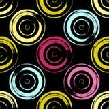 逗人喜爱的传染媒介几何无缝的样式 抽象画笔对跟踪的被绘的实际冲程纹理是 圆点 免版税图库摄影