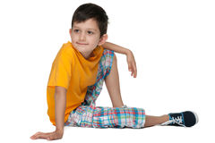 逗人喜爱的体贴的年轻男孩 库存图片
