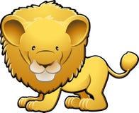 逗人喜爱的例证狮子向量 免版税库存照片