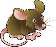 逗人喜爱的例证鼠标向量 免版税库存照片