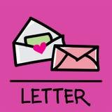 逗人喜爱的信件手拉的样式,传染媒介例证 库存图片