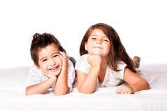 逗人喜爱的儿童兄弟姐妹 免版税库存照片