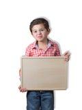 逗人喜爱的儿童拷贝空间 免版税库存图片