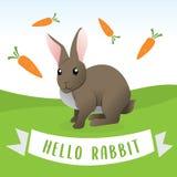 逗人喜爱的兔子动画片 向量例证