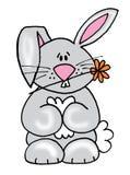 逗人喜爱的兔宝宝一点 库存照片