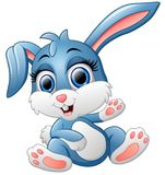 逗人喜爱的兔宝宝挥动的手 库存图片