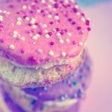 逗人喜爱的减速火箭杯形蛋糕 库存图片