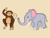逗人喜爱的动物字符 库存照片
