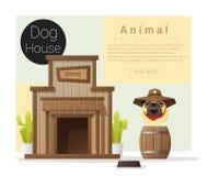 逗人喜爱的动物汇集犬小屋 图库摄影