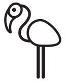 逗人喜爱的动物火鸟-例证 库存照片