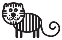 逗人喜爱的动物老虎-例证 免版税库存图片