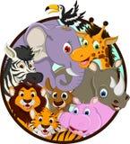 逗人喜爱的动物野生生物动画片 库存图片