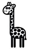逗人喜爱的动物长颈鹿-例证 库存图片