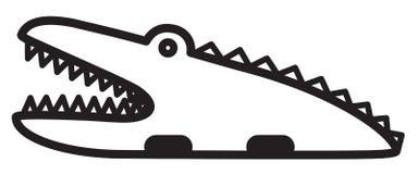 逗人喜爱的动物鳄鱼-例证 免版税库存照片