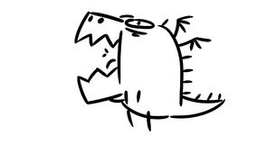 逗人喜爱的动画片一点龙 动画片动画 影视素材