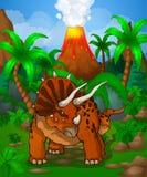 逗人喜爱的动画片三角恐龙 库存图片