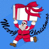 逗人喜爱的动画片圣诞老人 免版税图库摄影
