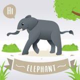 逗人喜爱的动画片大象 皇族释放例证