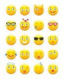 逗人喜爱的动画片意思号 Emoji象传染媒介集合 图库摄影