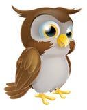 逗人喜爱的动画片猫头鹰 免版税库存照片