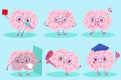 逗人喜爱的动画片脑子 免版税库存照片