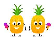 逗人喜爱的动画片菠萝传染媒介 皇族释放例证
