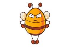 逗人喜爱的动画片蜂蜜蜂的例证 皇族释放例证