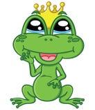 逗人喜爱的动画片迷住了青蛙 库存图片