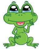 逗人喜爱的动画片青蛙 免版税库存图片