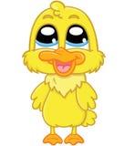 逗人喜爱的动画片鸭子 免版税库存照片