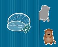 逗人喜爱的动画片groundhog 免版税库存照片