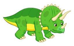 逗人喜爱的动画片三角恐龙 免版税库存照片