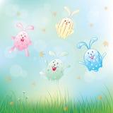 逗人喜爱的动画片兔子,传染媒介例证 库存图片