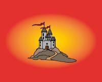 逗人喜爱的动画片城堡 库存照片