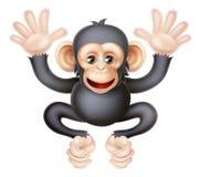 逗人喜爱的动画片小黑猩猩 库存照片