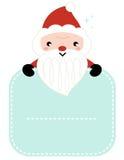 逗人喜爱的动画片拿着空白的圣诞老人 库存照片