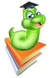 逗人喜爱的动画片毛虫蠕虫 免版税库存图片