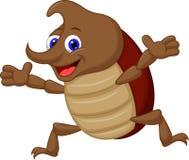 逗人喜爱的动画片犀牛甲虫 免版税库存照片