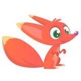 逗人喜爱的动画片狐狸字符 也corel凹道例证向量 库存图片