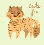 逗人喜爱的动画片狐狸 库存照片