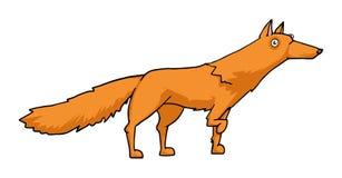 逗人喜爱的动画片狐狸 免版税库存图片