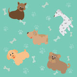 逗人喜爱的动画片狗,传染媒介例证 库存例证