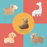 逗人喜爱的动画片狗,传染媒介例证 免版税图库摄影
