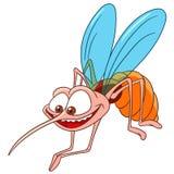 逗人喜爱的动画片蚊子 免版税库存照片