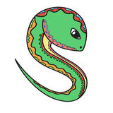 逗人喜爱的动画片蛇 免版税库存图片
