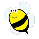 逗人喜爱的动画片蜂 免版税库存照片