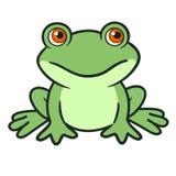 逗人喜爱的动画片青蛙 免版税库存照片