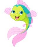 逗人喜爱的动画片鱼 免版税库存照片